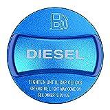 SODIAL Garniture de Couvercle de Bouchon de Réservoir de Carburant en Alliage D'Aluminium pour BMW X1 X2 X3 X4 X5 X6 F10 F15 F16 F25 F26 F30 F34 F35 F48 F47 G30 G38 (Diesel Bleu)