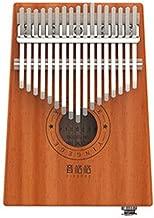 GQDZ 17 teclas de piano Kalimba Pulgar, pura caoba, el tono hermoso, fácil de llevar, fácil de aprender, Madera Color, electro-acústica de sonido original, la última Piano pulgar