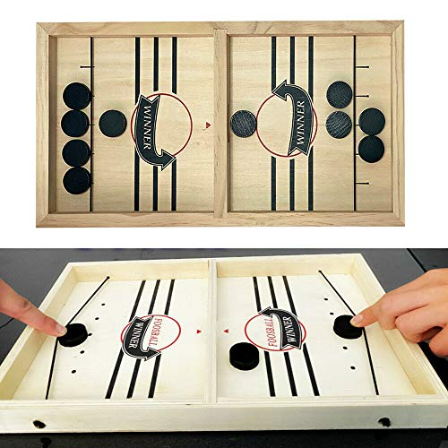 ZHiveA Table Desktop Battle 2 in 1 LCE Hockey Game Fast Sling Puck Game Winner Board Games Educational Toys Gifts