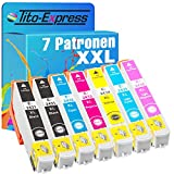 Tito-Express Juego de 7 cartuchos de tinta compatibles con Epson T2431-T2436 24XL con 13 ml negro y 13 ml por color XXL, XP-55, XP-750, XP-760, XP-850, XP-860, XP-950, XP-960 y XP-970
