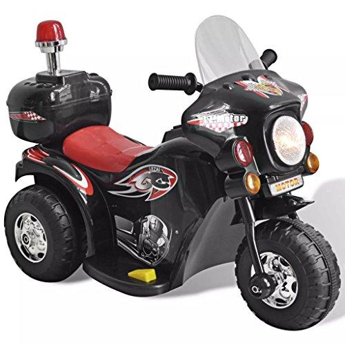 vidaXL Moto à Chevaucher sur Piles Noir Voiture Moto Véhicule Jouet d'enfant