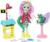 enchantimals Coffret le dentiste Crocodile, Mini-poupée Andie et Figurine Animale Marshy, Accessoires inclus, Jouet pour Enfant, Gfn55