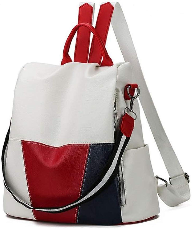 HEIMIAOMIAO Damentasche Jugendmdchen Rucksack mit groer Kapazitt 2019 neue Sommer heie hochwertige Luxus-Designer-Design Nhen Studententasche wei