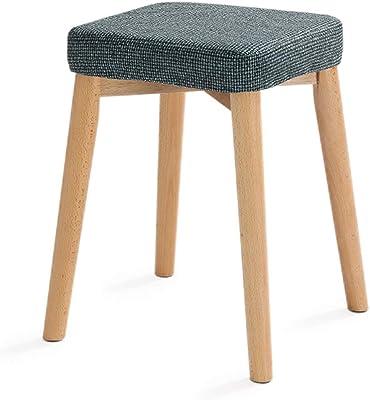 Amazon.com: LQQGXL - Taburete de madera maciza para silla ...