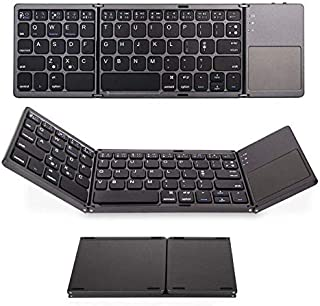 Universal Foldable Bluetooth Keyboard, Wireless Keyboard for Android, Linux, Windows Tablets, Smartphones and Laptops