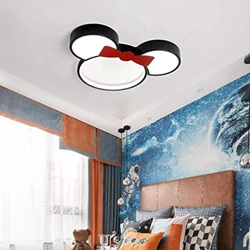 AOUZE Lámpara de la habitación de los niños creativos de la luz creativa de la luz de la historieta moderna DIRIGIÓ Lámpara de bebé 24W Mickey Mouse Design Lámpara de aluminio Lámpara de techo para ni