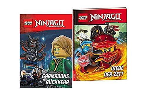 LEGO NINJAGO – Libro di registrazione per bambini con il ritorno di Garmadons + ladri del tempo, libro per bambini