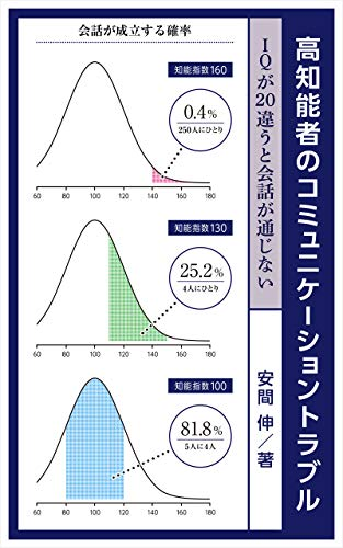 Communication problems of highly intelligent people: It will not be a conversation if IQ differs by more than 20 (Japanese Edition)