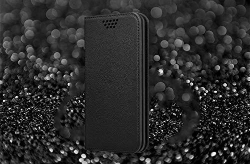 UltraProtection Schutztasche für Huawei Ascend Y200 Tasche, Schutz-Hülle, Handytasche, Wallet Cover Case, Handy Etui in Schwarz - 5