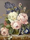 5D DIY diamante pintura flor Kit de punto de cruz mosaico diamante bordado Rosa decoración del hogar diamante pintura A5 40x50cm