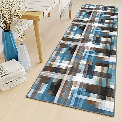 LYYK Salon alfombras 70x120cm Moderna Pelo Corto Lavables Antideslizante Baratas Alfombras de Cocina para Pasillo Cocina Sala de Estar Dormitorio Colori