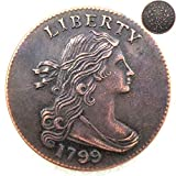 FKaiYin 1799 Antike Liberty One Cent Replik Old Coin American Lucky Old Coin - US Old Coins - Unzirulated Hobo Nickel USA Morgan Dollar Coin Future Experience -