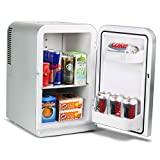 15 Litre Mini Fridge Cooler and Warmer - Silver | Thermoelectric Food & Drinks Chiller Ideal for Offices