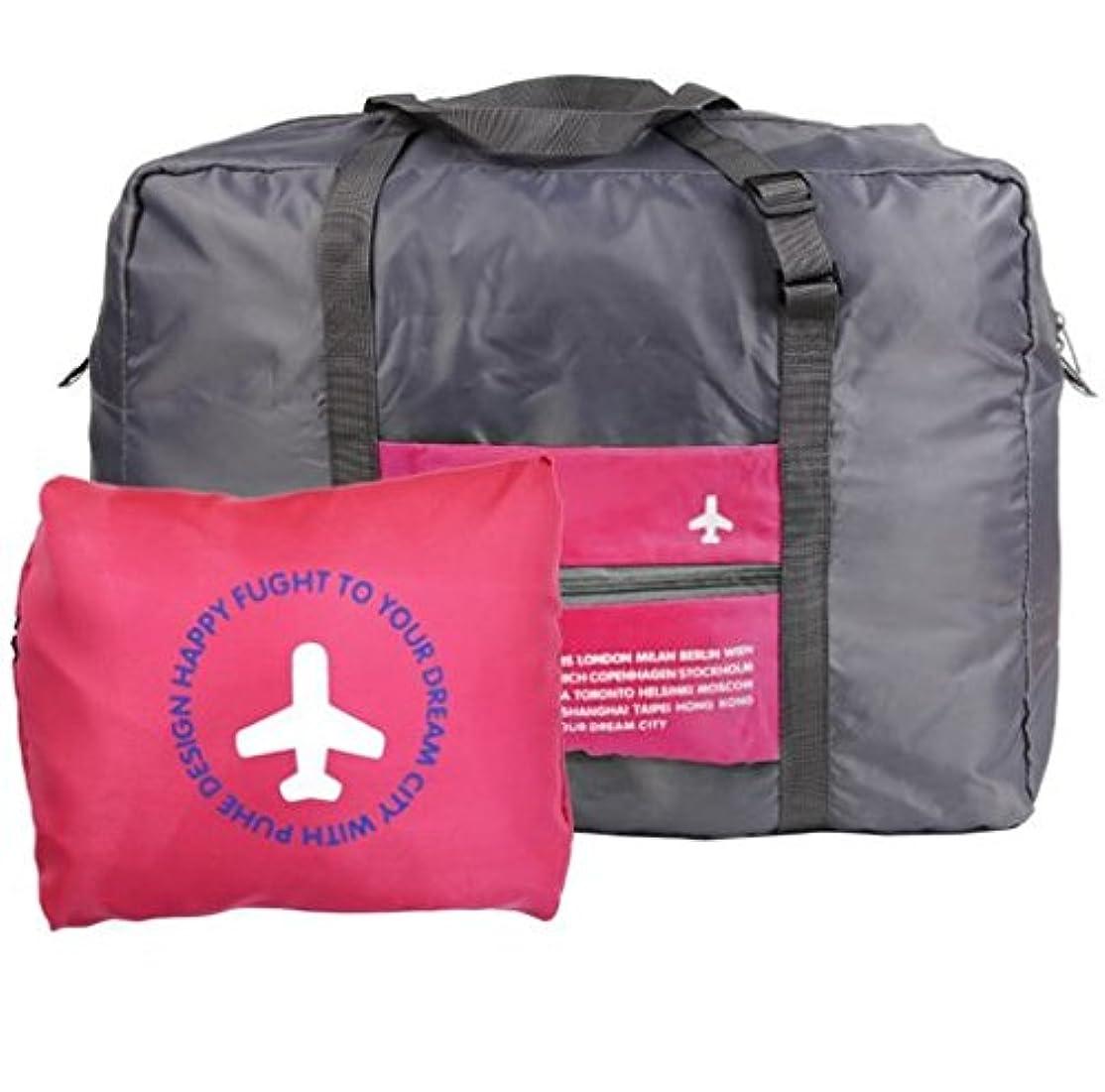 アブストラクトクラシカルシーサイドKeepjoy 旅行バッグ キャリーバッグ 折りたたみバッグ 空の旅を快適に スーツケースに通せる 機内 持ち込み 用 (46*34.5*20cm, レッド)
