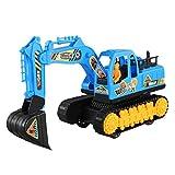 giocattolo Accessori Modello Toy Escavatore Boy Toy Car Ingegneria del Veicolo (Color : Blue)