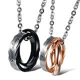 U365 Matching Couples Necklace Titanium...