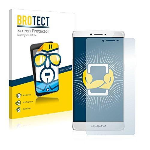 BROTECT Schutzfolie kompatibel mit Oppo R7 Plus (2 Stück) klare Bildschirmschutz-Folie