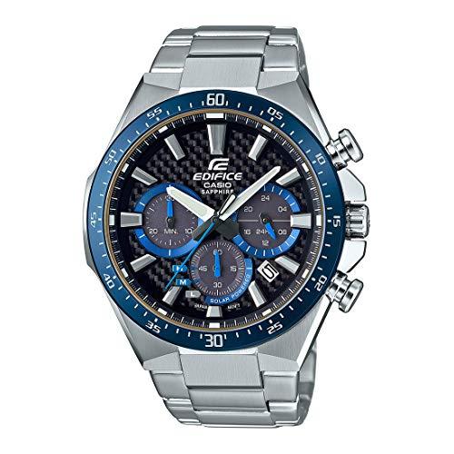 CASIO Herren Chronograph Solar Uhr mit Edelstahl Armband EFS-S520CDB-1BUEF