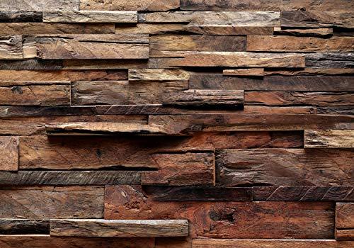 decomonkey Fototapete Holz 400x280 cm Tapete Wandbild Vliestapete Fototapeten Tapeten Wandtapete Wand Schlafzimmer Wohnzimmer Holzoptik