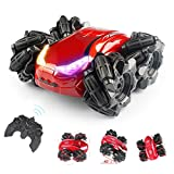 【Multifunctional Stunt Remote Control Car】 -- Growsland stunt rc car is a full functional stunt car capable of 360-degree stunt rotation, 45° sideways drift, double sides running and lateral movement stunt. Giving you incredible experiences playing w...