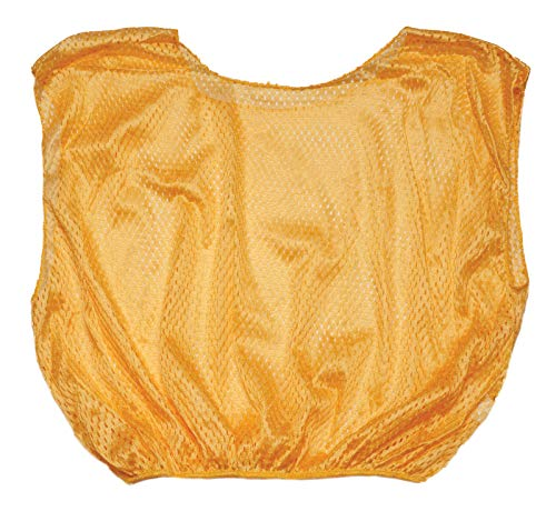 Champion Sports Youth Mesh Practice Scrimmage Vest, Gold (Pack of 12)
