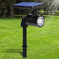 Luci Solari LED Esterno 2 in 1, 800 Lumens Ultra Luminoso, Lampada Solare da Esterno con Sensore di Movimento,...