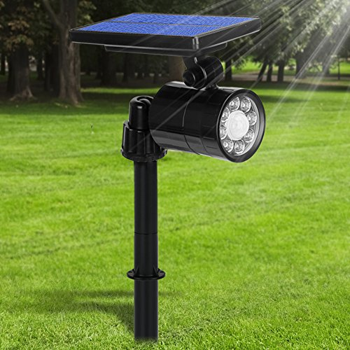 Lampe Solaire Extérieur Ultra Puissante avec Détecteur de Mouvement,Spot Solaire 8 LED 800 Lumens,IP65 Etanche,4 Modes Eclairage Exterieur Sans Fil 360° Reglable Lumière Solaire pour Jardin,Garage