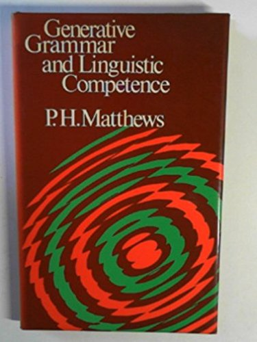 Generative Grammar and Linguistic Competenceの詳細を見る