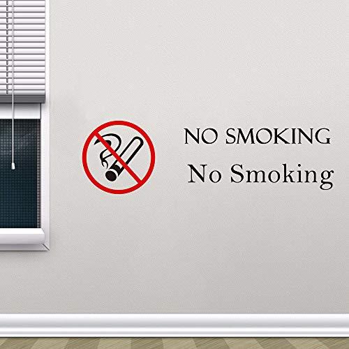 Rauchverbot Logo Warnung Aufkleber Restaurant Dekoration wasserdicht Wandbild Aufkleber Shop Dekoration Wandaufkleber98X30CM