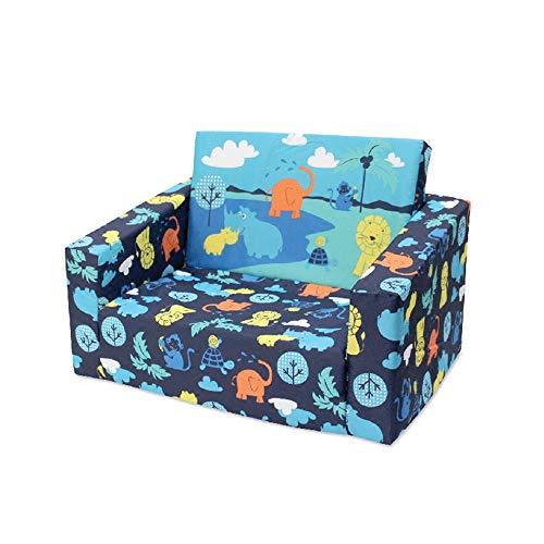 Sofa Kinder-Sofa Loungemöbel for Jungen und Mädchen Einzelwohn Bett-Zimmer Stuhl Kinder Sofa Ideal for Spielzimmer Schlafzimmer Wohnzimmer Kinder Sofa Sitz ( Farbe : Blau , Größe : 40x58x43cm )