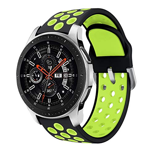 Syxinn Kompatibel mit 22mm Armband Galaxy Watch 46mm/Watch 3 45mm/Gear S3 Frontier/Classic Armband Silikon Uhrenarmband Sportarmband für Moto 360 2nd Gen 46mm/Huawei Watch GT/GT 2 46mm/Ticwatch Pro