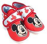 Zapatillas Mickey Mouse de Estar por Casa - Zapatillas Disney Mickey Mouse Niños Pantuflas Media Bota Velcro (Numeric_23)