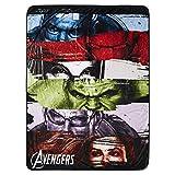 Marvel Avengers Fleece Throw Blanket - Spiderman, Ironman, Captain America & Avengers Premium Plush Fleece Throw Blanket (Marvel Avengers)
