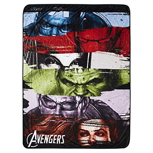 Marvel Avengers Fleece Throw Blanket - Spiderman, Ironman, Captain America und Avengers Premium Plush Fleece Throw Blanket (Marvel Avengers)