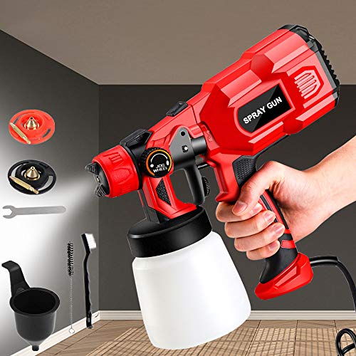 Paint Sprayer,Spray Gun,550W High Power HVLP Electric Spray Gun,3 Spray Patterns 800ml Detachable Tank Professional Paint Gun Easy Spraying and Cleaning for Furniture, Fence, Car, Bicycle, Chair