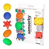 Sevira Kids - Coffret de 5 balles sensorielles - massage - Jouet d'éveil pour bébé - Fabrique en UE - sans BPA