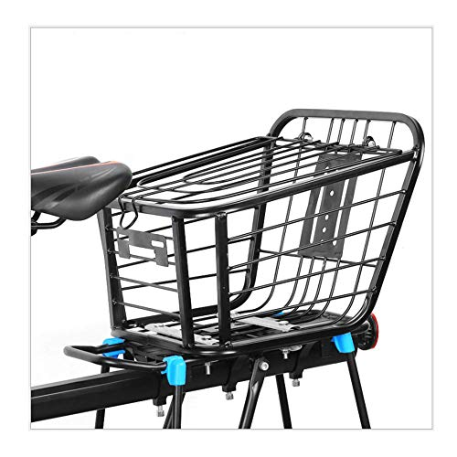 Oeternity Bicycle Basket, Rough Mountain Bike Shelf Basket, Folding Car Pet Basket Rear Seat, Durable