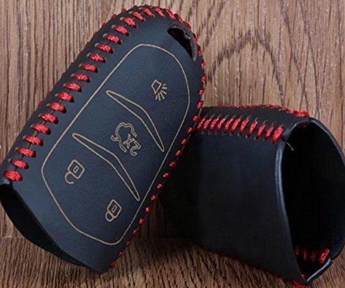 ZHUHAI HONGKANG DONGMAO HANDEL CO LTD Nieuwe Echte Lederen Auto Merk Sleutelhouder Auto's Sleutelportefeuilles Sleutelhanger Ring