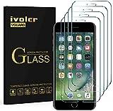 iVoler [4 Pack] Pellicola Vetro Temperato per iPhone 8 Plus/iPhone 7 Plus/iPhone 6S Plus/iPhone 6 Plus, Pellicola Protettiva, Protezione per Schermo - Transparente