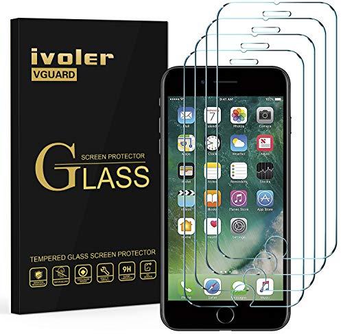ivoler [4 Unidades] Protector de Pantalla para iPhone 8 Plus/iPhone 7 Plus/iPhone...