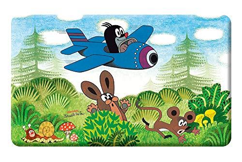 Trötsch Der kleine Maulwurf Frühstücksbrettchen Flugzeug: Frühstücksbrett Brett Kinderbrettchen Pauli
