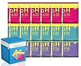PH Test Meter - Set di soluzione tampone di misurazione della polvere per pH e metro di calibrazione per pH e metro di calibrazione rapida e accurata del pH di purezza di acqua (18 confezioni)