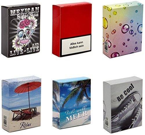 Zigarettenetui Überzieher für XL Zigarettenschachteln (23-25 Stück) bunt Sortiert (30 Stück Größe XL)