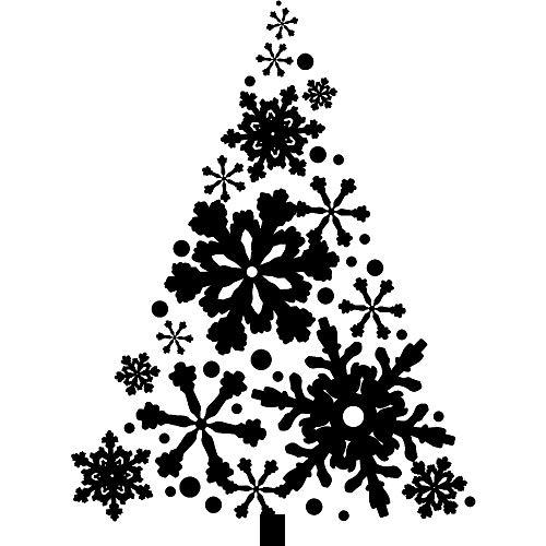 zhuziji Tapete Blumen Sticker Boss Home Frohe Weihnachten Weihnachtsbaum Und Schneeflocken Wal S Vinylpvcwaterproofliving Room Company School108x79cm