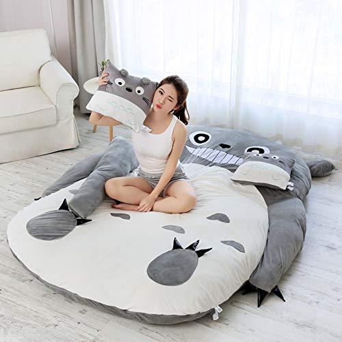 XXXVV Totoro Matelas de Soft Épaissir,Mon Voisin Totoro Tatami Dormir lit Tatami Dormitory Matelas Dessin animé Épaississement Canapé-lit Super Doux Lit De Couchage,150 * 200cm