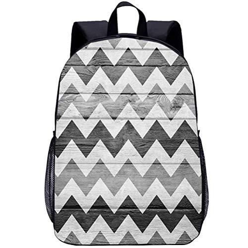 Printing Backpacks, Chevron, Kindergarten Cute Cartoon Schoolbag, 16 inch