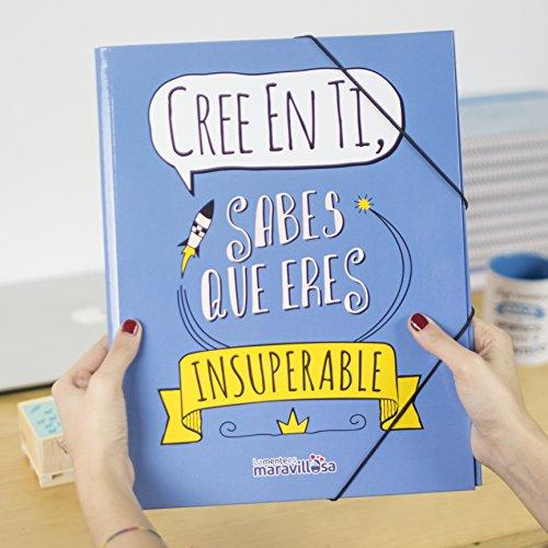 La Mente es Maravillosa - Carpeta con frase y dibujo divertido para regalo amiga (Diseño Cree en ti)