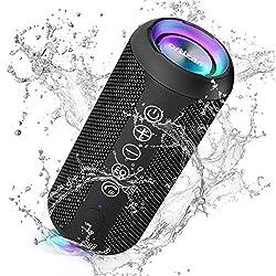 ※【Son Stéréo Hi-Fi à 360 ° et Basses Riches】 Ces Enceinte Bluetooth offrent un excellent Son Surround 360 ° avec une puissance de sortie totale de 12W, ce qui permet des basses améliorées uniques. Il gère parfaitement les aigus et les médiums nets sa...