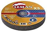 Leman 116049.05 Lot de 5 Disques d'ébarbage pour métal MD 115 x 6,0 x 22,23 mm