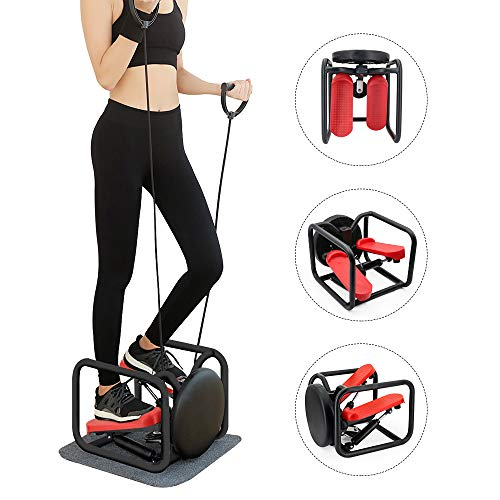 Weanas Mini Stair Stepper, 3 in 1 Portable Fitness Stepper Foot Stepping Motion Cardio Exercise Machine with LCD Display